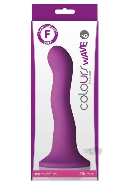 Colours Wave 6 inches Dildo Purple