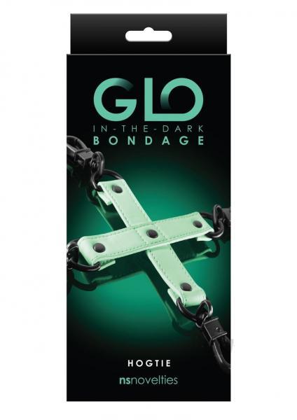 Glo Bondage Hog Tie Green