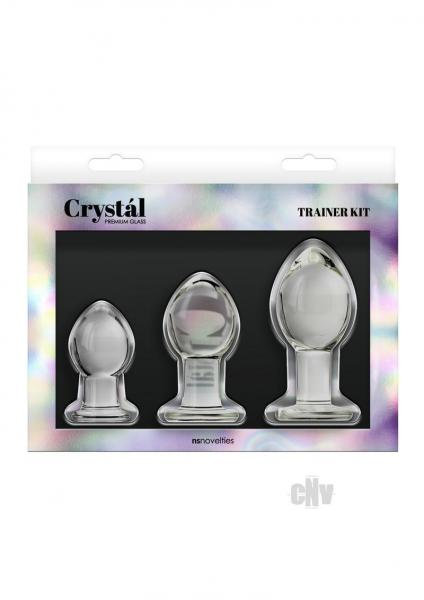 Crystal Glass Anal Trainer Kit Clear