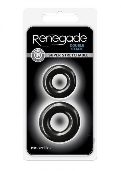 Renegade Double Stack Black Cock Rings