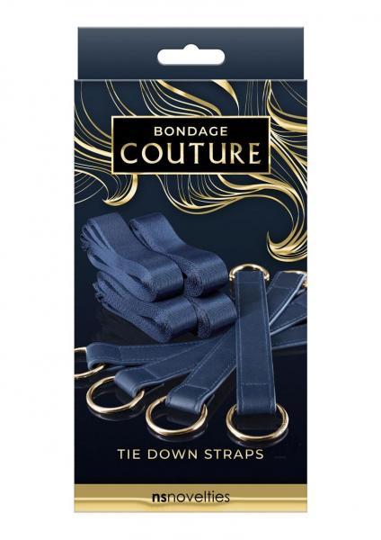 Bondage Couture Tie Down Straps Blue