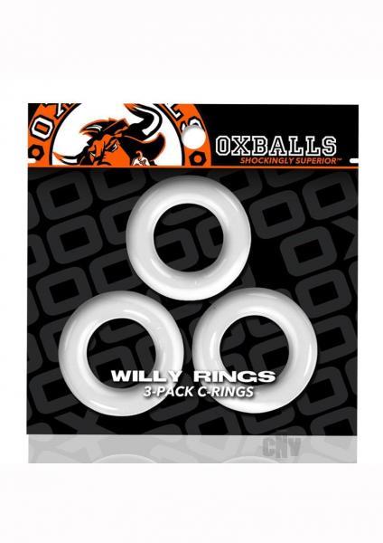 Oxballs Willy Rings 3pk White