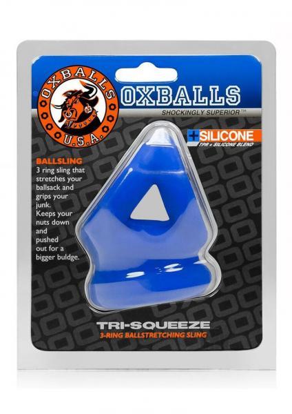 Tri-sqeeze Cocksling/ballstretcher Blue