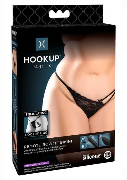 Hookup Panties Remote Bow Bikini Qs Blk
