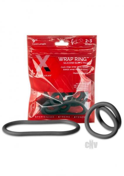Xplay Silicone Thin Wrap Ring 9 Black