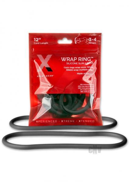 Xplay Silicone Thin Wrap Ring 12 Black