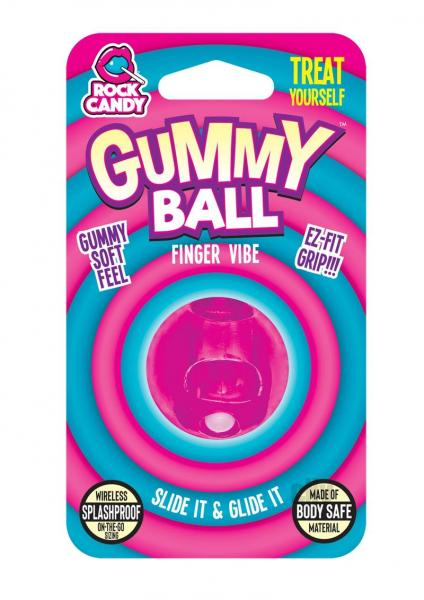 Rock Candy Gummy Ball Blister Pink Finger Vibrator