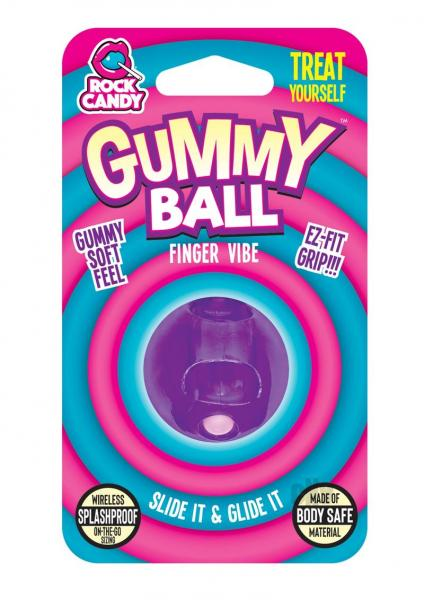 Rock Candy Gummy Ball Blister Purple Finger Vibrator