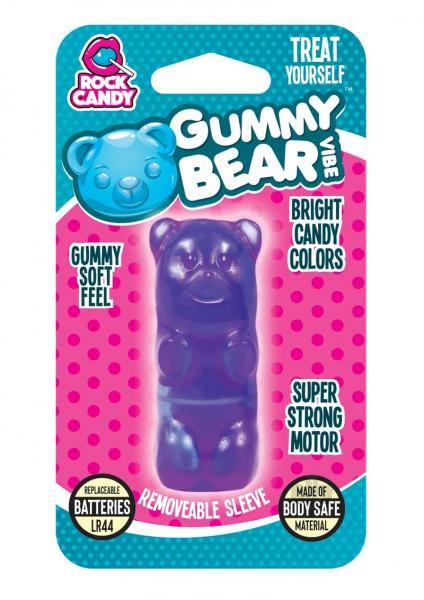 Rock Candy Gummy Bear Vibe Blister Purple Bullet Vibrator