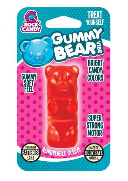 Rock Candy Gummy Bear Vibe Blister Red Bullet Vibrator
