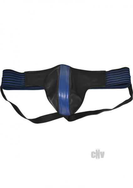 Rouge Jock Strap Strip Waist Band Black Blue Lg