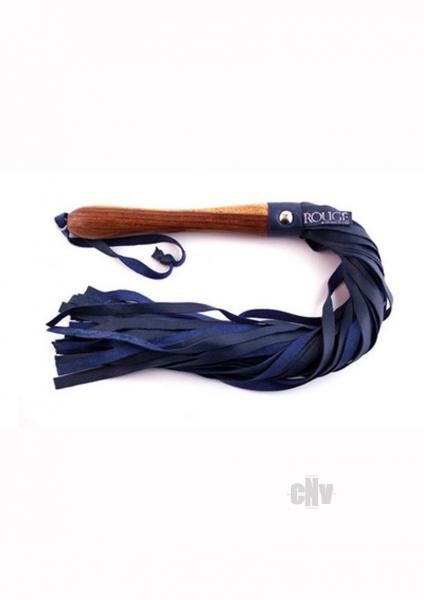 Rouge Wooden Handle Flogger Blue