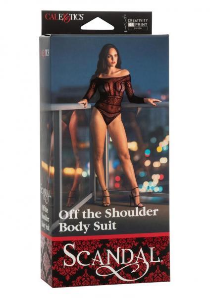 Scandal Off The Shoulder Body Suit Black