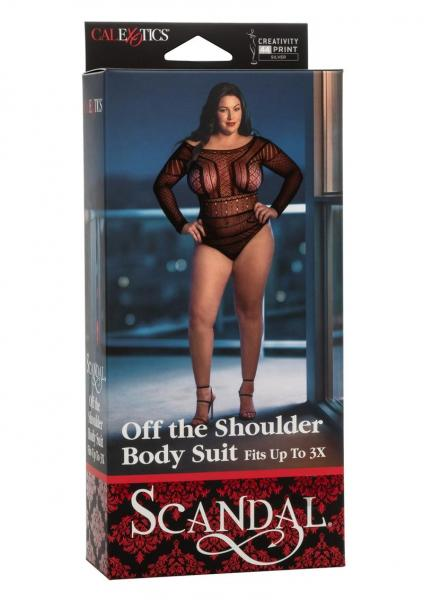 Scandal Off The Shoulder Suit Plus Black