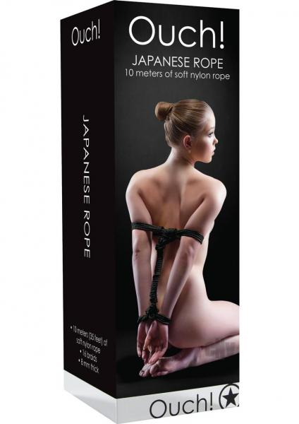 Ouch Japanese Rope 10m Black