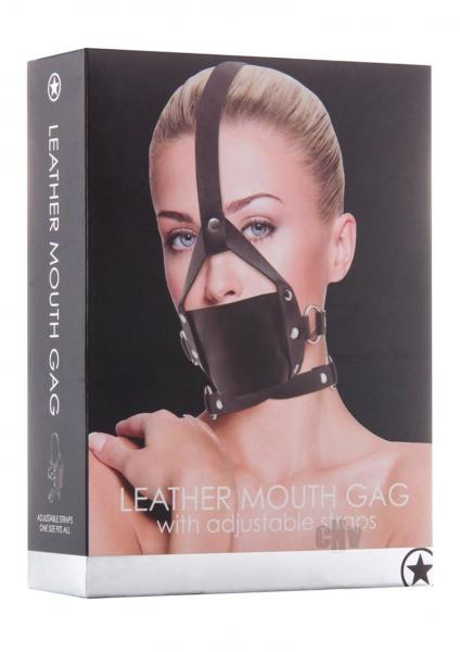 Ouch Leather Mouth Gag Black