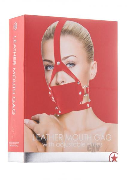 Ouch Leather Mouth Gag Red