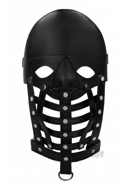Ouch Pain Leather Male Mask Black