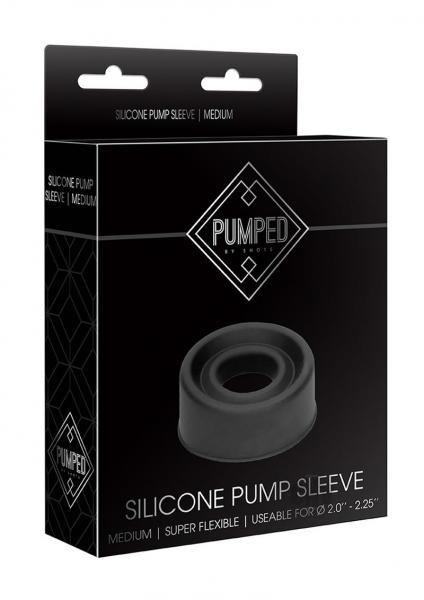 Pumped Silicone Pump Sleeve Medium Black