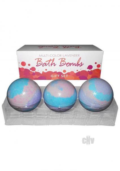 Multi Color Bath Bombs Lavender Gift Set 3 Pack