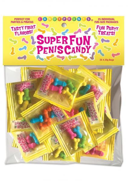 Cp Super Fun Penis Candy 25pc Bag