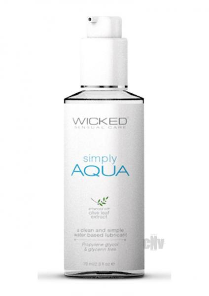 Wicked Simply Aqua Lubricant 2.3 fluid ounces