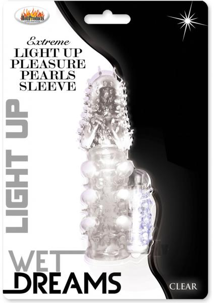 Light Up Extreme Pearl Sleeve Clear