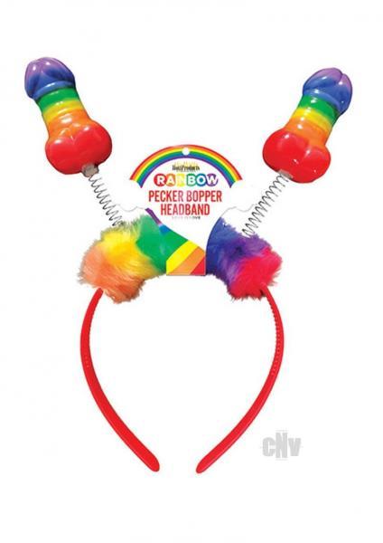 Rainbow Pecker Bopper Head Band O/S