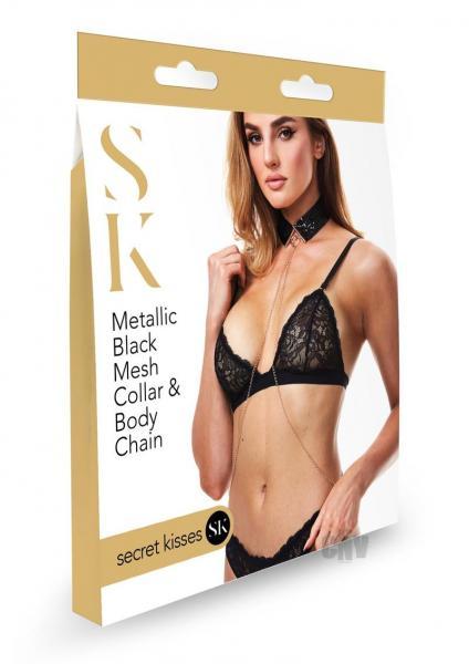 Sk Metallic Mesh Collar And Body Chain