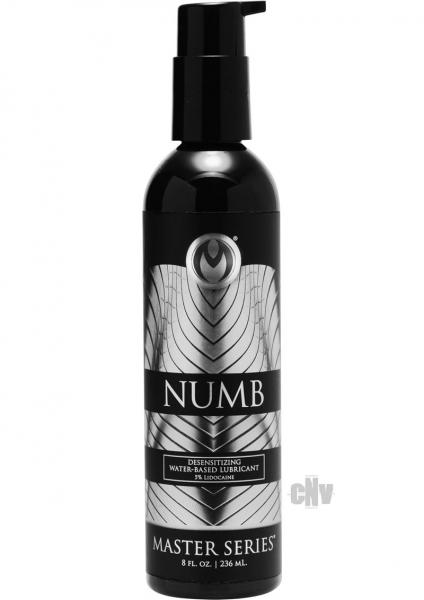 Numb Desensitizing Water Based Lubricant 3.5 Percent Lidocaine 8oz