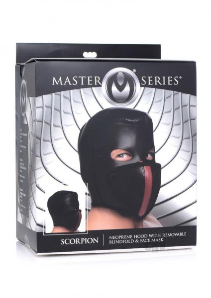 Ms Scorpion Hood W/blindfold And Mask