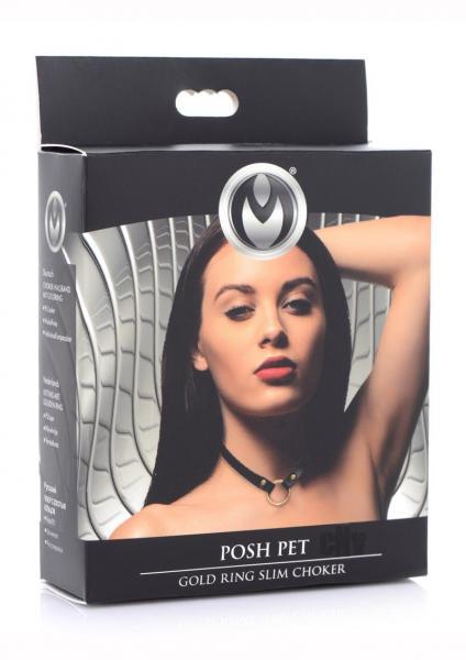 Ms Posh Pet Gold Ring Slim Choker