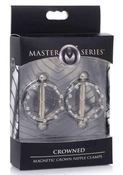Ms Crowned Magnet Nipple Clamps Silver