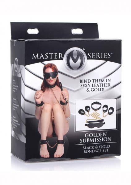 Ms Golden Submission Bondage Set Black