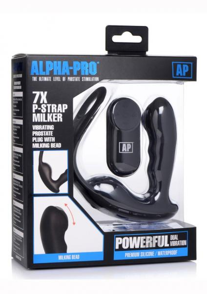 Alpha Pro Pstrap Milker/cock And Ball Ring
