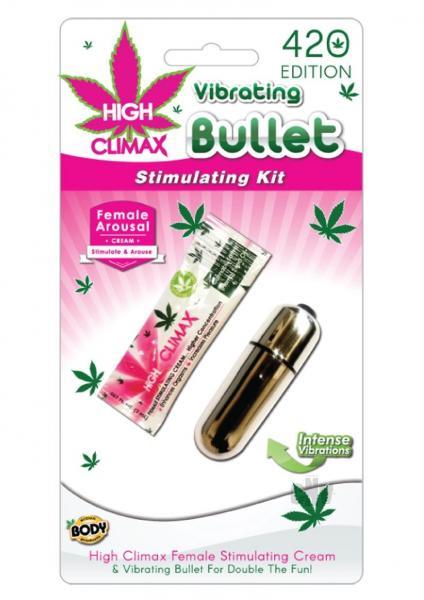 High Climax Vibrating Bullet Stimulating Kit Silver