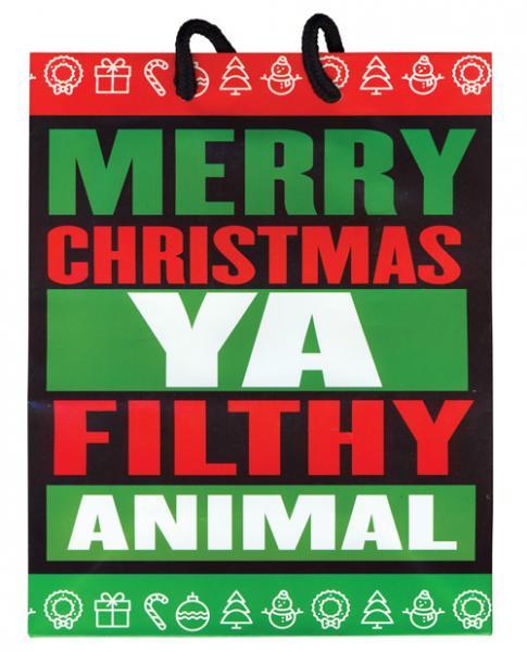 Christmas Ya Filthy Animal Present Gift Bag