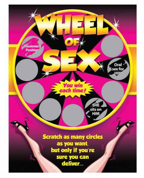 Wheel Of Sex Scratchers Scratch Off Ticket