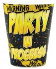 Warning Party In Progress Plastic Shot Glass Sex Toy Product