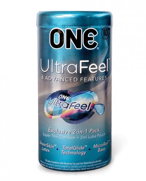 One Ultra Feel Latex Condoms 10 Pack