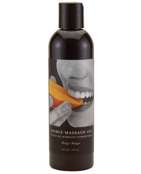 Earthly Body Edible Massage Oil - 8 Oz Mango