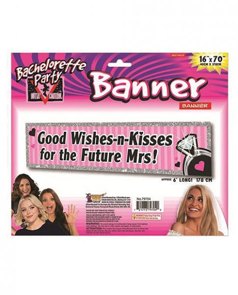 Bachelorette Outta Control Good Wishes Party Banner Pink