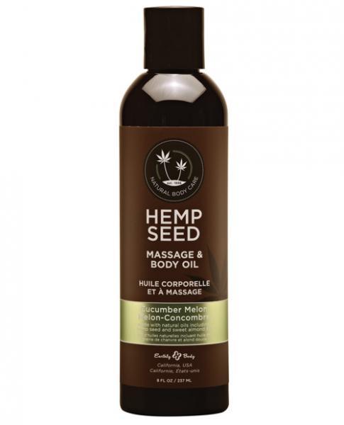 Earthly Body Massage & Body Oil - 8 Oz Cucumber Melon