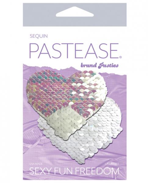 Pastease Color Changing Flip Sequins Heart - Pearl/white O/s