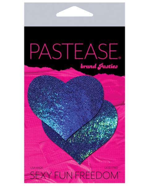 Pastease Blue Spectrum Liquid Heart Pasties O/S