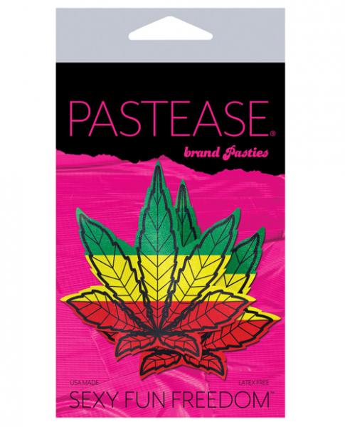Pastease Marijuana Leaf Rasta Weed Pasties O/S