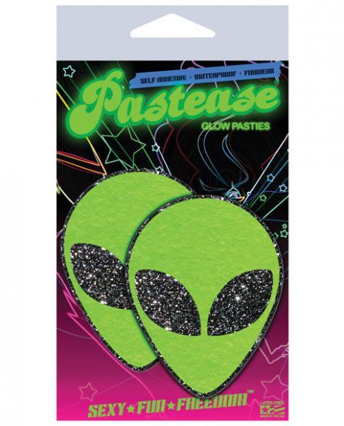 Green Glitter Alien Pasties O/S