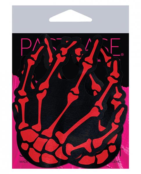 Pastease Skeleton Hands - Red O/s