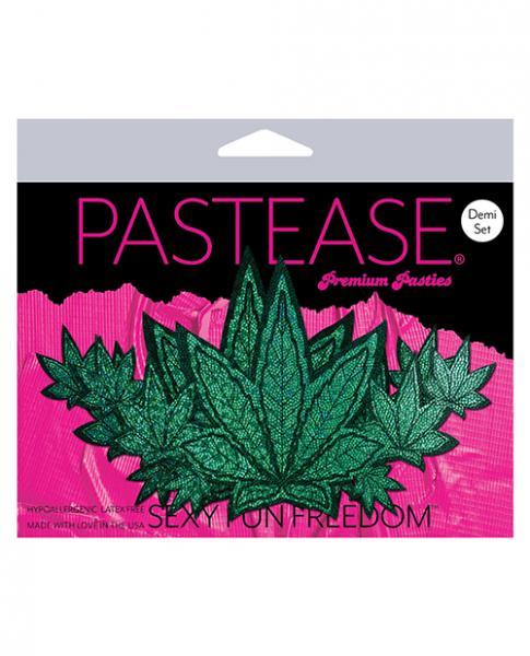 Pastease Demi Glitter Leaf Pasties Green O/S