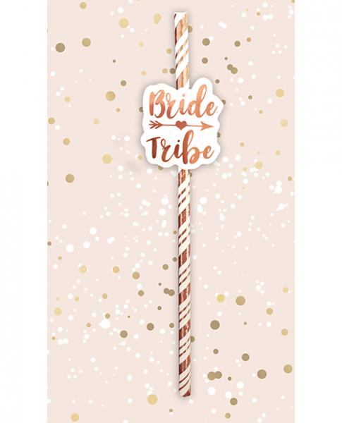 Bride Tribe Straws - Rose Gold Pack Of 6